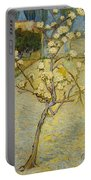 Small Pear Tree In Blossom Portable Battery Charger