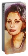 Sophia Loren, Vintage Hollywood Actress Portable Battery Charger