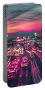 Street Scenes Around Las Vegas Nevada At Dusk Portable Battery Charger