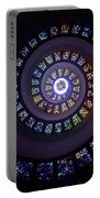 Spiral Stained Glass Portable Battery Charger