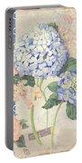 Summer Memories - Blue Hydrangea N Butterflies Portable Battery Charger