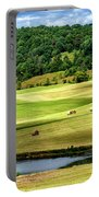 Summer Morning Hay Field Portable Battery Charger