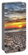 Sunrise Outer Banks Of North Carolina Seascape Portable Battery Charger