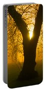 Sunrise Trees Fog Portable Battery Charger