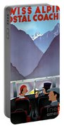 Switzerland Vintage Travel Poster Restored Portable Battery Charger
