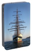 Tall Ship Anchored Off Penzance Portable Battery Charger