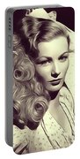 Veronica Lake, Vintage Actress Portable Battery Charger