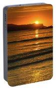 Vibrant Orange Sunrise Seascape Portable Battery Charger