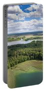 View Of Small Islands On The Lake In Masuria And Podlasie  Portable Battery Charger