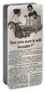 Sure It Will Launder Vintage Soap Ad  Portable Battery Charger
