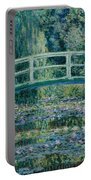 Water Lilies And Japanese Bridge Portable Battery Charger