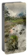 Watercolor Painting Of Beautiful Autumn Fall Landscape Image Of  Portable Battery Charger