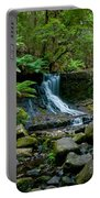Waterfall In Deep Forest Portable Battery Charger