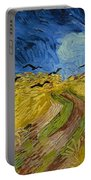 Wheat Field With Crows Portable Battery Charger