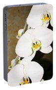 3 White Orchids Portable Battery Charger
