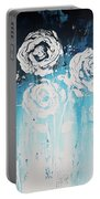 3 White Roses Portable Battery Charger