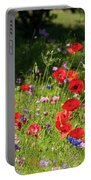 Wild Flowers Art Portable Battery Charger