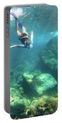 Woman Free Diving Portable Battery Charger