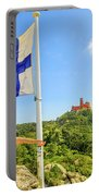 Woman Tourist In Sintra Portable Battery Charger