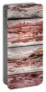 Wood Background With Faded Red Paint Portable Battery Charger