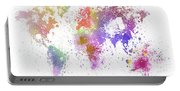 World Map Painting Portable Battery Charger