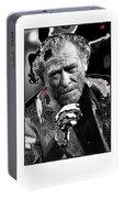 Writer Charles Bukowski On Tv Show Apostrophes September 1978-2013 Portable Battery Charger