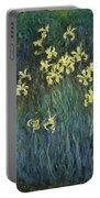 Yellow Irises Portable Battery Charger