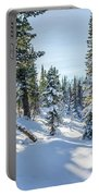 Amazing Landscape With Frozen Snow-covered Trees In Winter Morning  Portable Battery Charger
