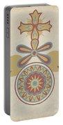 "Santa Barbara Mission Doorway Design From The Portfolio ""decorative Art Of Spanish California"" Portable Battery Charger"