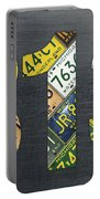 313 Area Code Detroit Michigan Recycled Vintage License Plate Art Portable Battery Charger
