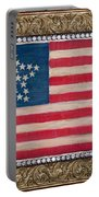 33 Star American Flag. Painting Of Antique Design Portable Battery Charger
