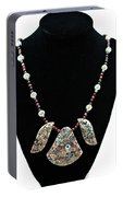 3521 Crinoid Fossil Jasper Necklace Portable Battery Charger