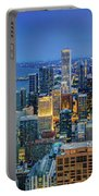 360chicago Rivers Begin To Glow - Skyline Panorama Portable Battery Charger
