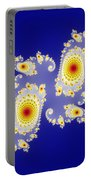 Fractal Floral Pattern Portable Battery Charger