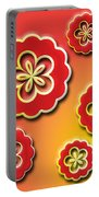 3d Digital Flowers Portable Battery Charger