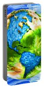 3d Render Of Planet Earth 11 Portable Battery Charger