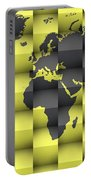 3d World Map Composition 4 Portable Battery Charger