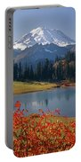 3m4824 Tipsoo Lake And Mt. Rainier H Portable Battery Charger