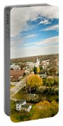 Aerial View Over White Rose City York Soth Carolina Portable Battery Charger