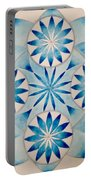 4 Blue Flowers Mandala Portable Battery Charger
