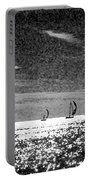 4 Boats On The Horizon Bw Portable Battery Charger