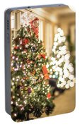 Christmas Tree And Decorations With Shallow Depth Of Field Portable Battery Charger