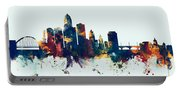Des Moines Iowa Skyline Portable Battery Charger