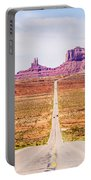 descending into Monument Valley at Utah  Arizona border  Portable Battery Charger