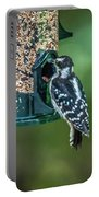 Downy Woodpecker In The Wild Portable Battery Charger