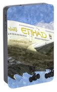 Etihad Airlines Airbus A380 Art Portable Battery Charger