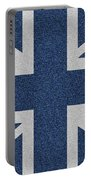Great Britain Denim Flag Portable Battery Charger