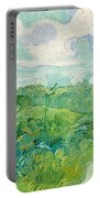 Green Wheat Fields, Auvers Portable Battery Charger