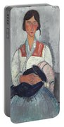 Gypsy Woman With Baby Portable Battery Charger