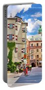 Historic Street Of Innsbruck View Portable Battery Charger